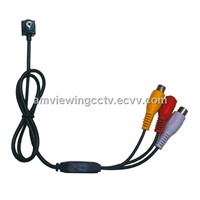 420TVL Screw Spy CCTV Camera With Audio, AV Connector
