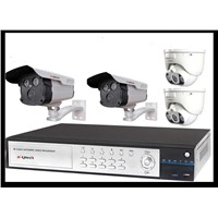 4CH HD 2.0 Mega Pixels H.264 NVR System(camera in wireless+SD Card)