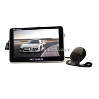 5inch large LCD Dual Cam GPS Car DVR GPS Navigator Support 3D Map