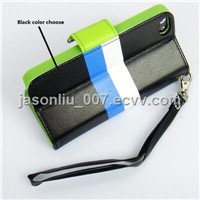 Black Color Hot Selling Wallet Phone Accessories for iphone 5