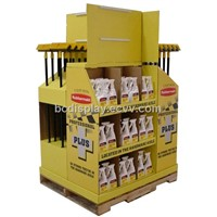 Super markets cardboard counter display stand with SGS(B&C-C007)