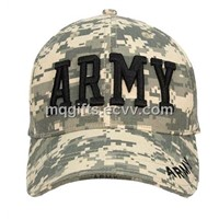 Fashion Army Style Cotton Hat with Velcro Strap Closure