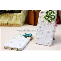 Fashionable Stereoscopic Crystal Pearl Case iPhone 4/4S/5