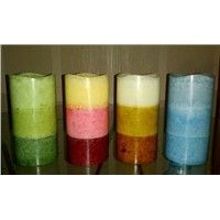 Flameless Mottled Pillar LED Candle
