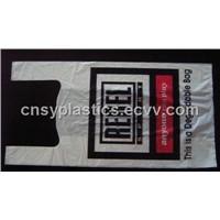 HDPE White Biodegradable Plastic T-Shirt Retail Shopping bag/Retail grocery bag/Vest handle bag