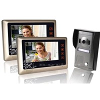 "Home 7"" TFT LCD Monitor Video Door phone Doorbell IR Camera with 2pcs 7""monitors"