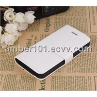 Hot selling wallet case for iPhone 5 with PC shell