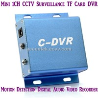 Mini 1 Channel C-DVR Digital TF Card Surveillance DVR Recorder W/ Motion Detection Metal Shell