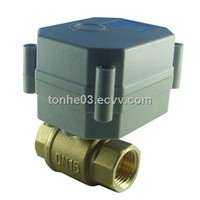 Miniature electric actuator ball valve