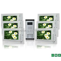 New Arrival Automaticlly Taking Photoes 7inch Screen 6-Apartment Video Door Camra System