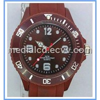 Newest 2013 Summer Colorful Japan Movement with Date Silicone Watch