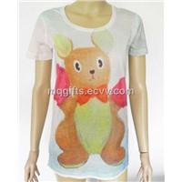 Printing t-Shirt for Women, Custom Design t Shirt, OEM Brand Print t-Shirt