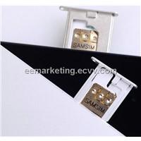 Samsim Unlock SIM for Iphone4S/Iphone5 Unlock SIM Card iPhone 5G, iPhone 4G/4S