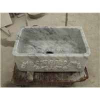 Bianco Carra white Marble Washing Basin