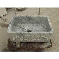 Bianco Carra white Marble Washing Basin