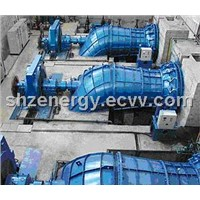 water turbine generator set for dam hydro power plant tubular type low head