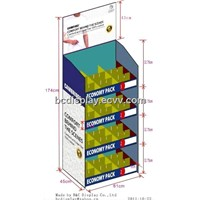 Whole sale cardboard floor layers displays for underware with SGS(B&C-A061)