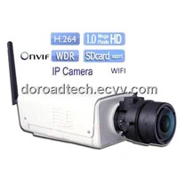 HD 1mp Megapixel H.264 Wireless WDR Support POE/ SD card/ ONVIF Bullet Ip Camera Motion Detection