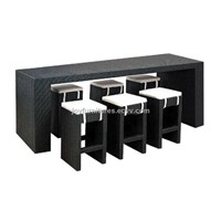 2012 Brand NEW cheap outdoor rattan bar set