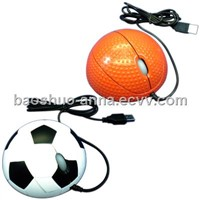 3D optical wired computer mouse / funny gift mouse football basketball shape mouse