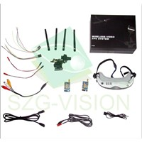 All in One Fpv 5.8GHz HD Wireless Video Goggles Glasses with Camera Kit Fv05