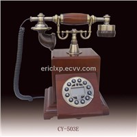 Antique wooden telephone (CY-503E)