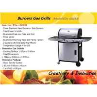 Burners Gas BBQ Grills EDa-G003B China Manufacture Suppliers