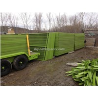 Canada Construction Site Safety Event Portable fence /Garden Fence 6*9.5' Green Yellow