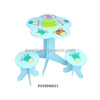 Children furnitures game table and chair