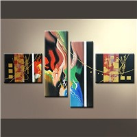 Colorful Abstract Set Oil Painting