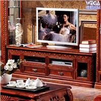 European Classical Style Wooden TV Stand 6004B
