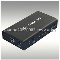 Supply HDMI Switch  5x1  verb1.3 support 3D full 1080p