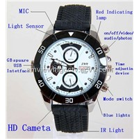 IR Night Vision 720P HD Watch Camera, No Need Driver,Rechargeable Battery for Pointer Movement