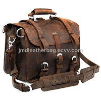 Leather Factory Most Popular Men's Travel Bag Briefcase # 7072R