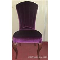 Modern velvet  Banquet Steel Dining hotel Chair