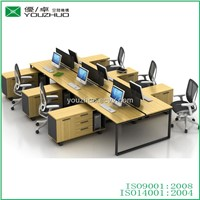 N-2 Bread-shape Steel Frame 6 Person Morden Office Desks with Table Partition
