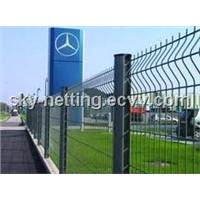 PVC and Galvanized Triangular Bending Fence/Metal Fence/Green Garden Fence Manufacturer