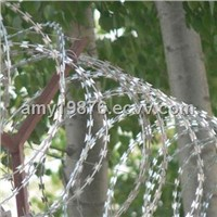 Razor Wire for Security Use, Electric Galvanized/Hot-Dipped Zinc