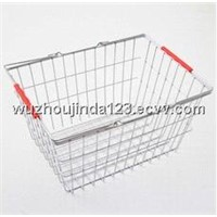 Stainless Woven Mesh shopping Basket