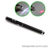 Touchscreen Stylus+1mW Red Laser Pointer+LED Flashlight LP00024