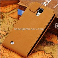 Business Style Good Quality Leather Flip Case for Samsung Galaxy S4/i9500 Mobilephone Accessories