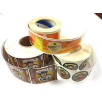 cheap rolled bottle sticker with custom printing