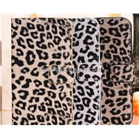 Classic Sexy Leopard Design PU Leather Case with Card Slot for Galaxy Samsung s4/ i9500 Case
