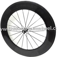 full carbon wheels 88mm clincher 700C for road bike with novatec hub and cn aero spokes