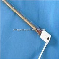 twin bore quartz tube emitter for heating device