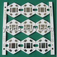 White Soldermask LED PCB Aluminium Board