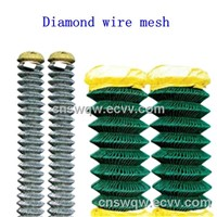 Chain link mesh/Chain link fence/Diamond shape wire mesh/Diamond wire mesh