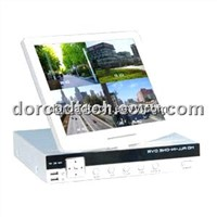 "Foldable Stand Alone LCD DVR/4CH DVR with 10.5"" Panel"