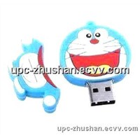 Hot Gifts Cartoon Doraemon Shaped USB Connector Flash Pendrive