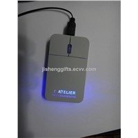 Hot Sale LED Light Flat Optical Mouse